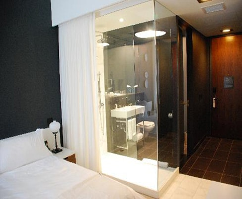 High tech design switchable privacy bathroom divider innovative glass for Privacy solution between bedroom and bath