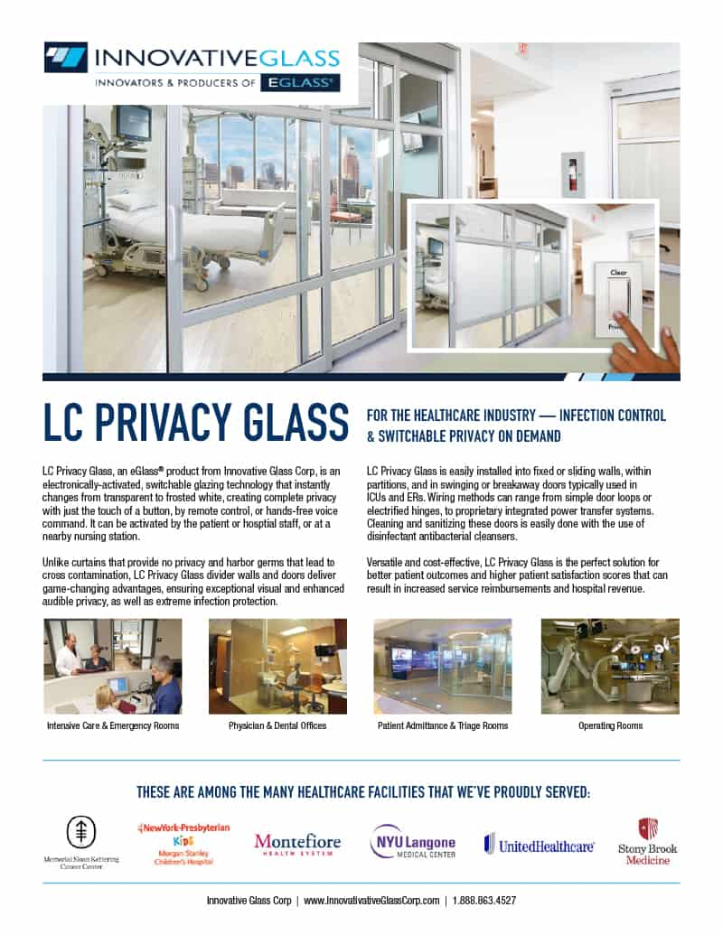 LC privacy glass product sheet